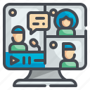 conference, meeting, call, seminar, video