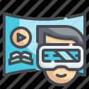 vr, glasses, virtual, reality, gaming