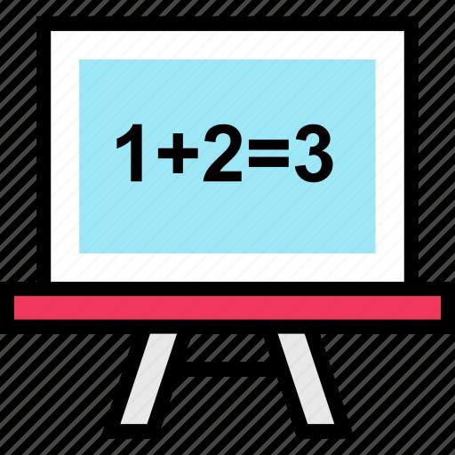 add, board, education, online, teaching icon