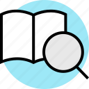 book, education, online, open, search, teaching icon