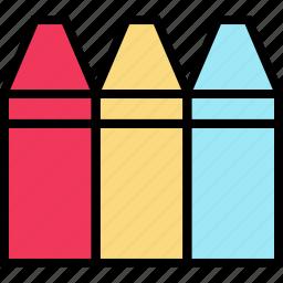 crayolas, education, online, teaching icon