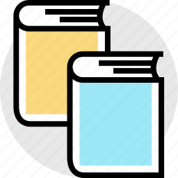 book, books, double, education, online, teaching icon