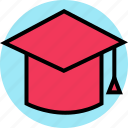 cap, education, graduation, online, teaching icon