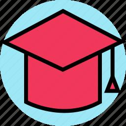 cap, education, graduation, online, teaching icon