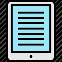 education, ipad, online, pad, teaching icon