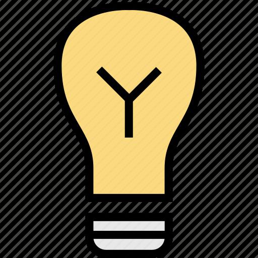 bulb, education, idea, light, online, teaching icon