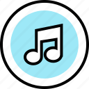 education, music, note, online, teaching icon
