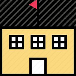 building, education, online, school, teaching icon