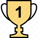 education, online, teaching, trophy icon