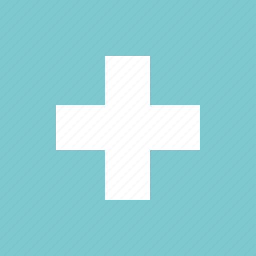 contact, cross, emergency, health, kit icon