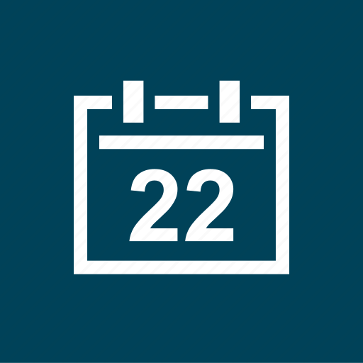appointmnet, calendar, event, twenty, two icon