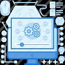 computer, course, lesson, media, monitor, multimedia, screen icon