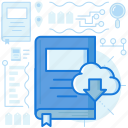 book, cloud, database, download, share, storage, transfer