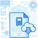 transfer, storage, cloud, data, share, download, database icon