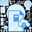 cloud, data, database, download, share, storage, transfer