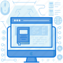 computer, device, electronic, monitor, screen, webpage, website icon
