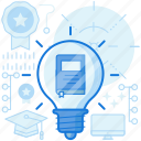 book, ebook, knowledge, light, lightbulb, online, reading