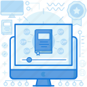 computer, graduation, media, monitor, multimedia, online, screen