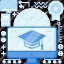 course, education, graduate, monitor, online, screen