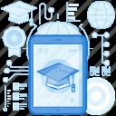 course, device, electronic, graduate, graduation, smartphone, tablet