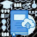 data, upload, storage, cloud, transfer, share, database icon