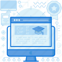 browser, computer, graduation, monitor, screen, webpage, website icon