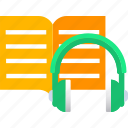 audio, book, ebook, education, elearning, learning, online icon