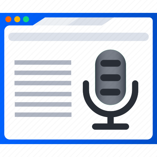 ebook, education, elearning, learning, online, podcast icon