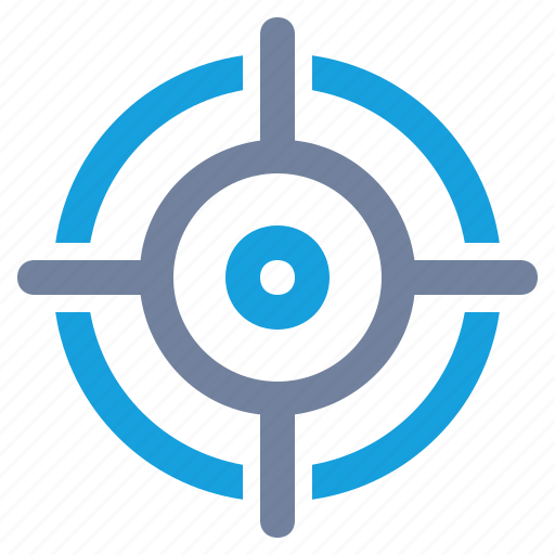 aim, cross-hairs, focus, marketing, precision, scope, target icon