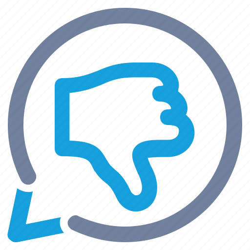 bubble, dislike, negative, notification, rating, thumbs down, vote icon