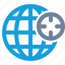 cross-hairs, globe, gps, grid, location, position, target icon