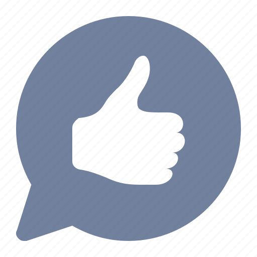 approve, bubble, like, notification, rating, thumbs up, vote icon