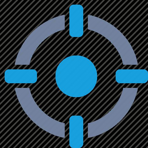 aim, cross-hairs, focus, marketing, precision, scope, target icon