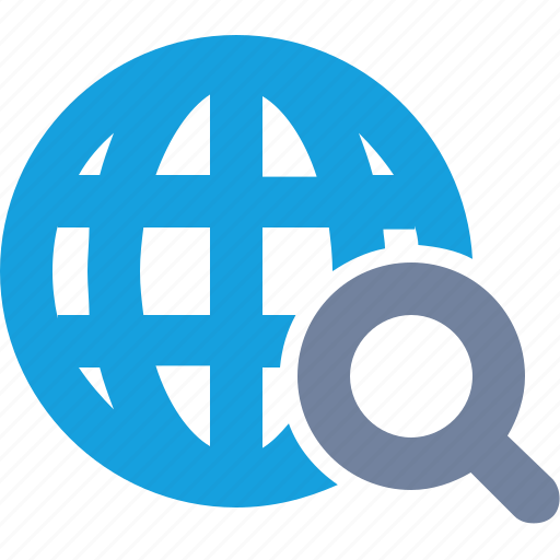 Glass, globe, grid, magnifier, magnifying, search, seo icon - Download on Iconfinder