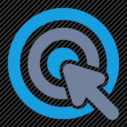 bulls-eye, click, ctr, cursor, pointer, seo, website icon