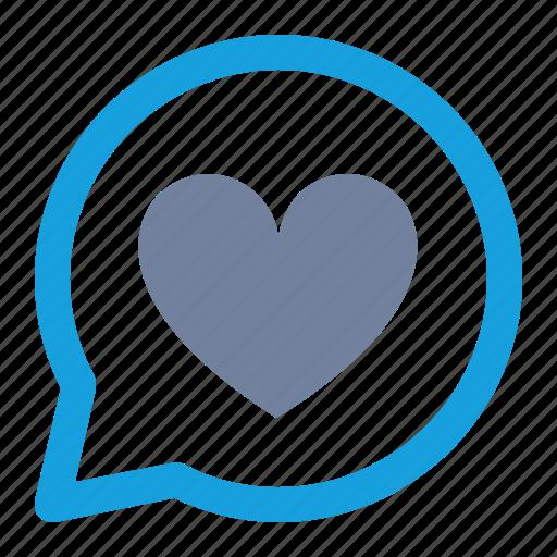 bookmark, bubble, favorite, heart, like, love, notification icon