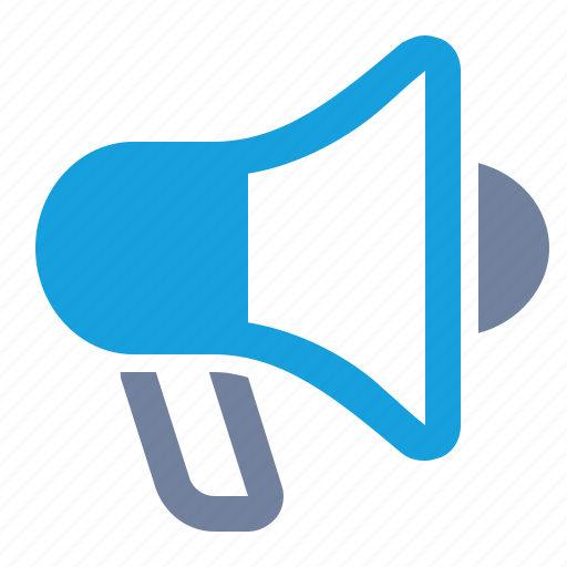 advertising, alert, bullhorn, campaign, loudspeaker, marketing, megaphone icon