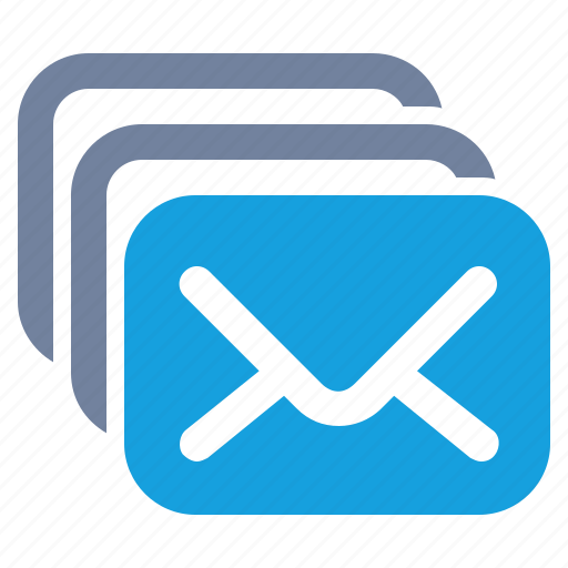 email, envelope, inbox, mail, message, newsletter, stack icon