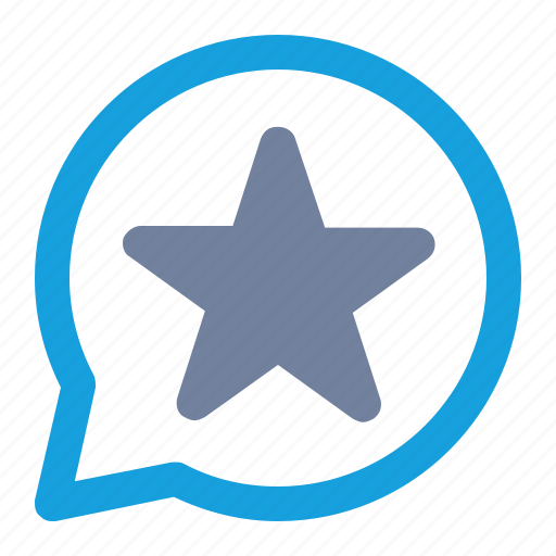 bookmark, bubble, favorite, notification, rating, star, tag icon
