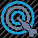 aim, bulls-eye, dart, marketing, solution, success, target icon