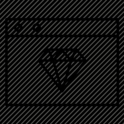 diamond, internet, website icon