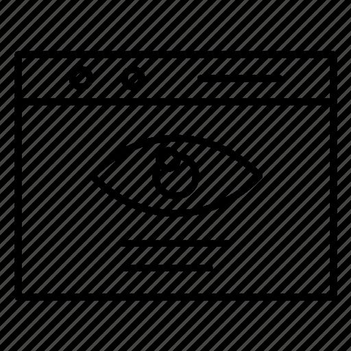 eye, security, website icon
