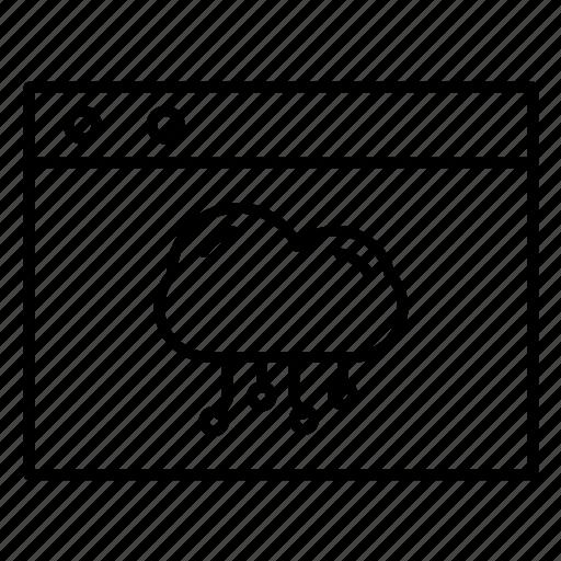 cloud, internet, website icon