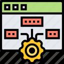 ranking, automate, software, setup, algorithm icon