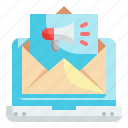 email, newsletter, send, laptop, advertisement