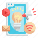 idea, smartphone, advertisement, technology, marketing