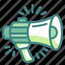 megaphone, speaker, loud, marketing, advertising