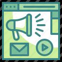 website, web, advertising, announcement, advertisement