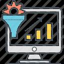 analysis, graph, statistics icon