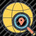 globe, location, search